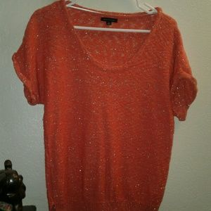 Tommy Hilfiger metallic peachy pink knit-style tee